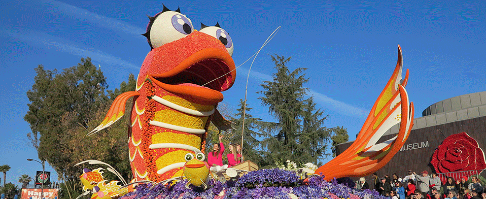 Rose Parade Fish Float