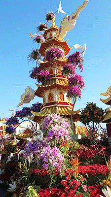 Tower Float at Rose Parade